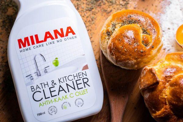 Vannas istabas tīrīšanas līdzeklis – putas ar etiķi MILANA