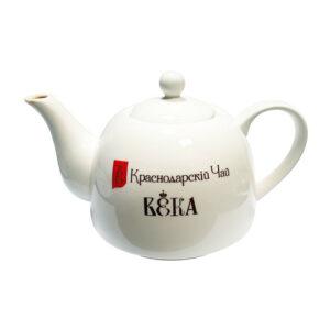 """Ķīniešu porcelāna tējkanna ar logotipu """"Краснодарскiй Чай ВЕКА"""""""