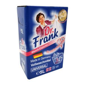 Universāls šķidrs koncentrēts gēls veļas mazgāšanai Dr.Frank 82 mazgāšanas reizēm 5l