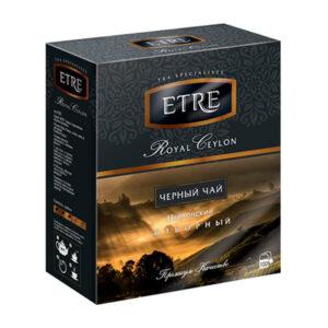 """Melnā tēja paciņās """"Etre Royal Ceilon"""" (100 gb. 2 gr.) 200g"""