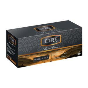"""Melnā tēja paciņās """"Etre Royal Ceilon"""" (25 gb.  2 gr.) 50g"""
