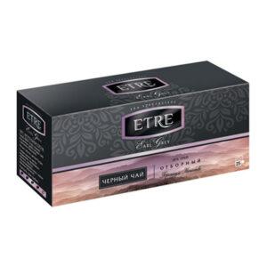 "Melnā tēja paciņās ""Etre Earl Grey"" ar bergamotes aromātu (25 gb. 2 gr.) 50g"