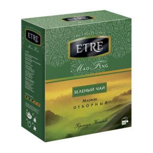 """Zaļā tēja paciņās """"Etre Mao Feng"""" (100 gb. 2 gr.) 200g"""