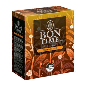 """Melnā tēja """"BONTIME"""" (100 gb  2 gr) 200g"""