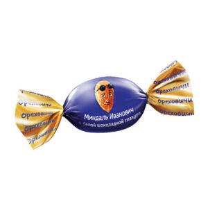 Mandeles baltā šokolādes glazūrā «Ореховичи» 500g