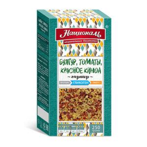 Bulgur, tomāti, sarkanā kvinoja ТМ «Националь» sērija veselīgs dzīvesveids sportistiem 250g