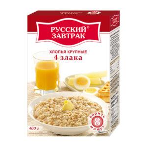 4 graudu lielas pārslas ТМ «Русский завтрак» 400g
