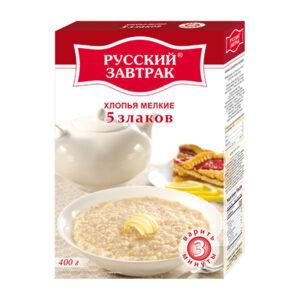 5 graudu smalkas pārslas ТМ «Русский завтрак» 400g