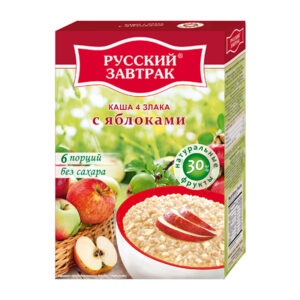 4 graudu pārslas ar ābolu ТМ «Русский завтрак» 240g