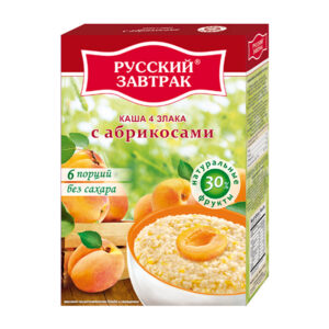 4 graudu pārslas ar aprikozi ТМ «Русский завтрак» 240g