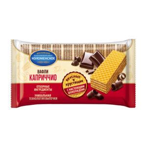 """Vafeles """"Коломенское"""" """"Каприччио"""" ar šokolādes pildījumu 220g"""