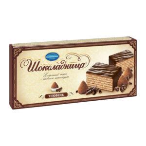 "Glazēta vafeļu torte ""Шоколадница"" trifele 250g"