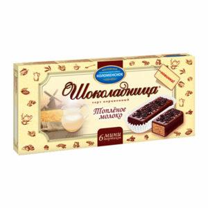 """Glazēta vafeļu torte """"Шоколадница"""" ar cepta piena garšu 180g"""