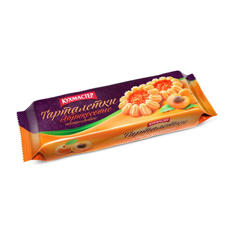 Sviesta cepums «Тарталетки абрикосовые» ar aprikožu džemu 240g