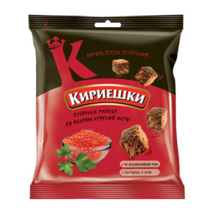 «Кириешки» grauzdiņi ar sarkano ikru garšu 40g