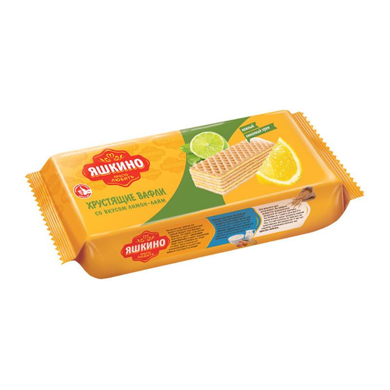 """Fasētas citronu laima vafeles """"Яшкино"""" 300g"""