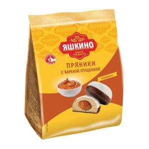 Fasēti prjaņiki «Яшкино» cukura glazūrā ar iebiezināto pienu 350g