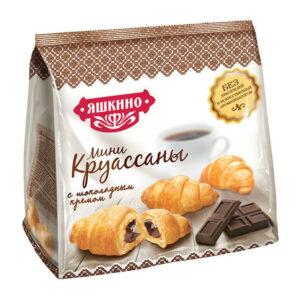 Mini kruasāni «Яшкино» ar šokolādes krēmu 180g