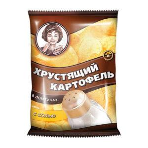 """Čipsi """"Kraukšķīgie kartupeļi"""" «Хрустящий картофель» ar sāli 40g"""