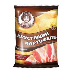 «Хрустящий картофель» čipsi ar bekona garšu 40g