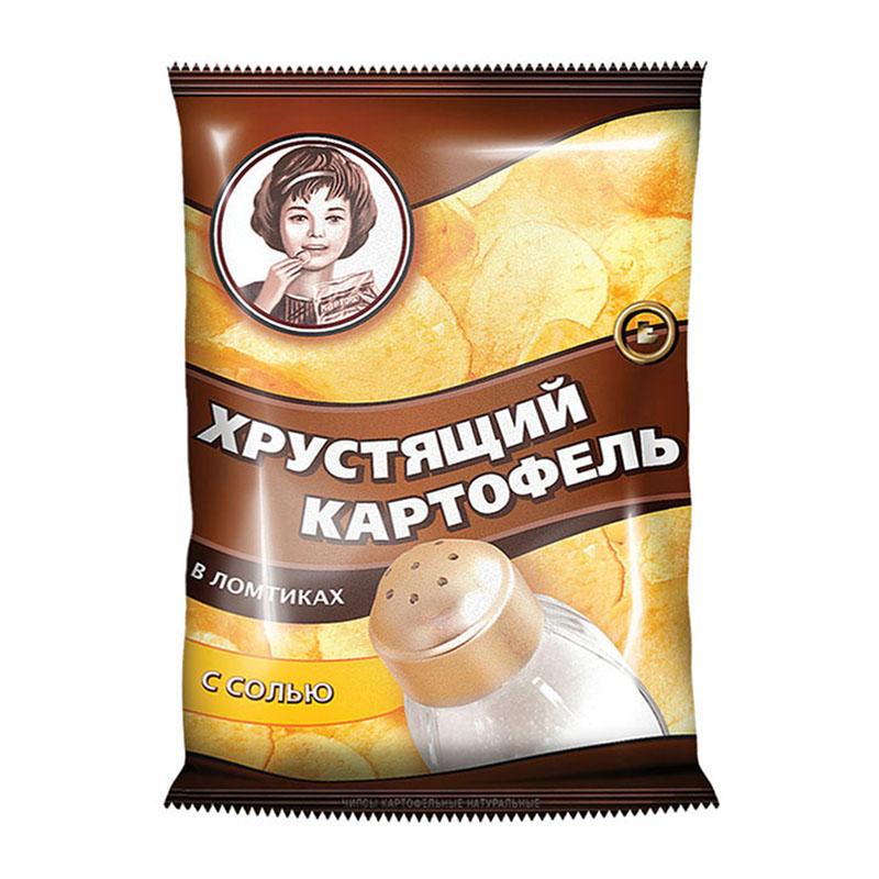 """Čipsi """"Kraukšķīgie kartupeļi"""" «Хрустящий картофель» ar sāli 70g"""