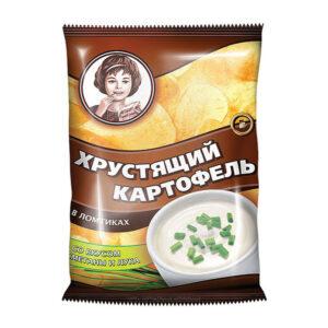 «Хрустящий картофель» čipsi ar krējuma un sīpolu garšu 70g