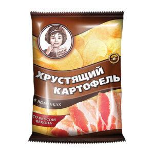 «Хрустящий картофель» čipsi ar bekona garšu 160g