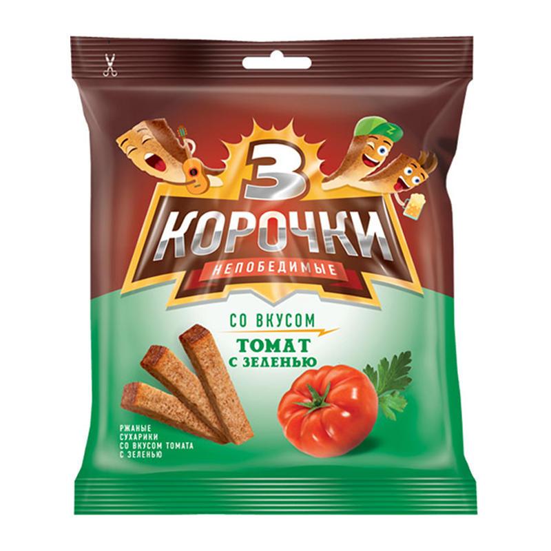 «3 Корочки» grauzdiņi ar tomātu un zaļumu garšu 40g