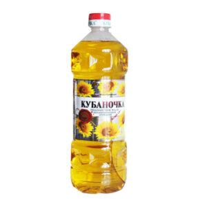 """Nerafinēta saulespuķu eļļa """"Кубаночка"""" 1l"""
