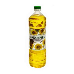 """Rafinēta saulespuķu eļļa """"Кубаночка"""" 1l"""