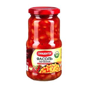 """Ceptas pupiņas tomātu mērcē TM """"Пиканта"""" 530g"""
