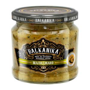 """Ikri ТМ """"BALKANIKA"""" no grilētiem zaļajiem pipariem un baklažāniem """"Малиджано"""" 360g"""