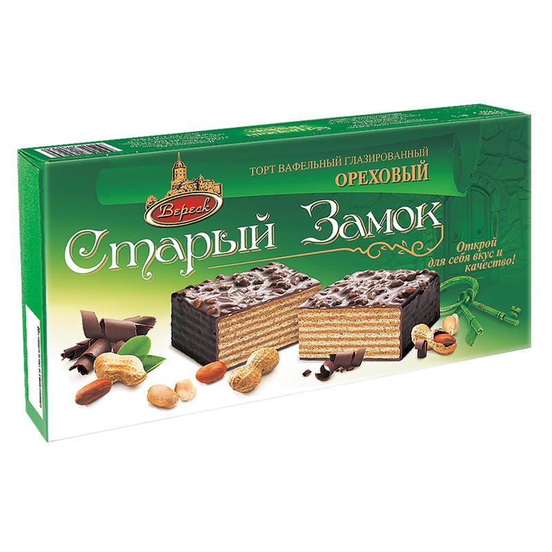 """Glazēta vafeļu torte """"Старый Замок"""" 250g"""