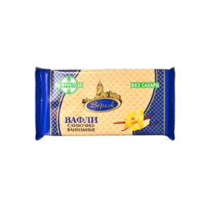 Fasētas krējuma vaniļa vafeles ar fruktozi 105g