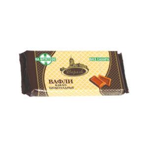 Fasētas kakao šokolādes vafeles ar fruktozi 105g