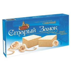 """Krējuma vafeļu torte """"Старый Замок"""" 220g"""