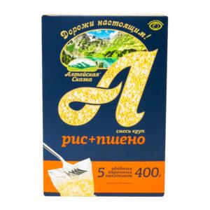 Rīsu prosas maisījums vārīšanas maisiņos (5 x 80 g) ТМ «Алтайская Сказка»® 400g