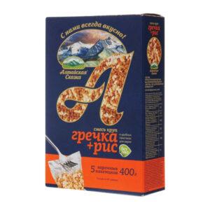 Griķu  un rīsu maisījums vārīšanas maisiņos (5 x 80 g) ТМ «Алтайская Сказка»® 400g