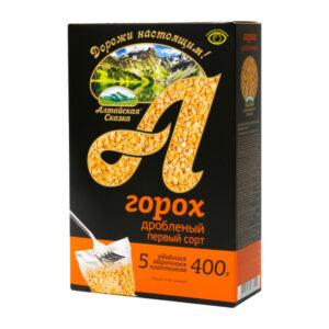 Dalīti zirņi vārīšanas maisiņos (5 x 80 g) ТМ «Алтайская Сказка»® 400g