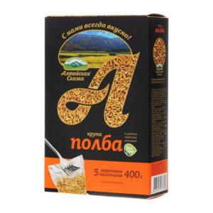 Speltas kvieši slipēti vārīšanas maisiņos (5 x 80 g) ТМ «Алтайская Сказка»® 400g