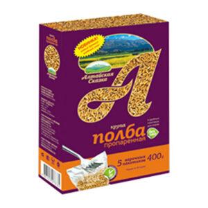 Speltas kvieši tvaicēti slipēti vārīšanas maisiņos (5 x 80 g) ТМ «Алтайская Сказка»® 400g