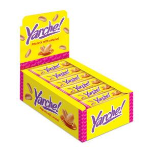 """Karameles, nugas un zemesriekstu batoniņi """"Yarche!"""" glazūrā 50g"""