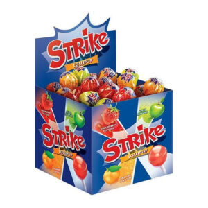 Košļājamās karameles uz kociņa «Strike» asorti 11g