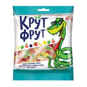 """Košļājamās želejkonfektes """"Крут Фрут"""", jauku čūsku formā 70g"""