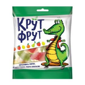 """Košļājamās želejkonfektes """"Крут Фрут"""", jauku krokodilu formā 70g"""