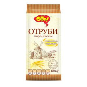 """Ekstrudētas rudzu klijas """"ОГО! Бородинские """" 200g"""