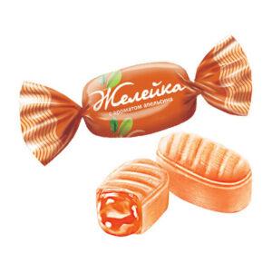 """Karameļu konfektes """"Желейка"""" ar apelsīnu aromātu 500g"""