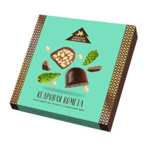 Ciedru griljāža konfektes ar priežu čiekuriem šokolādes glazūrā 120g