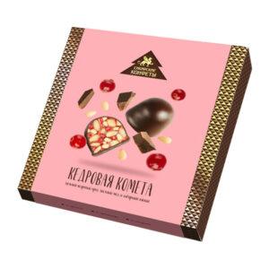 Ciedru griljāža konfektes ar dzērvenēm šokolādes glazūrā 120g