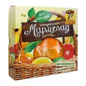 """Augļu marmelāde bez cukura """"Ar apelsīnu, greipfrūtu, citronu"""" 300g"""
